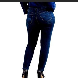 434650e8c47 Jack David Jeans - 1826 Women Plus Size StretchBlue Black Denim Jeans